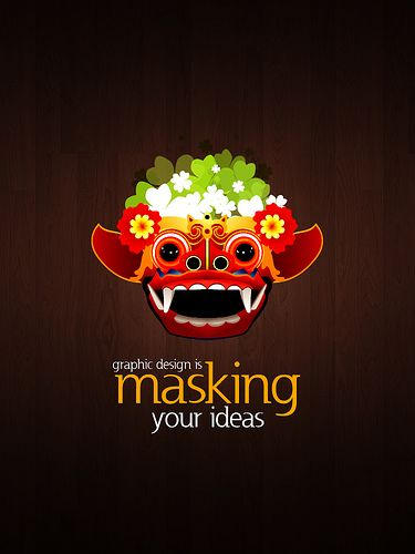 graphic design is masking your ideas por gage batubara va flickr