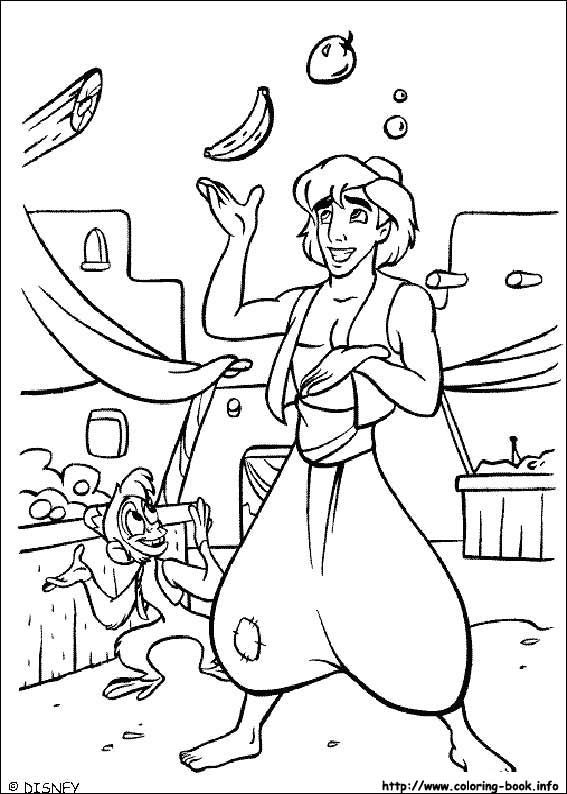 Aladin Coloring Pages 42 Is A Page From BookLet Your Children Express Their Imagination When They Color The