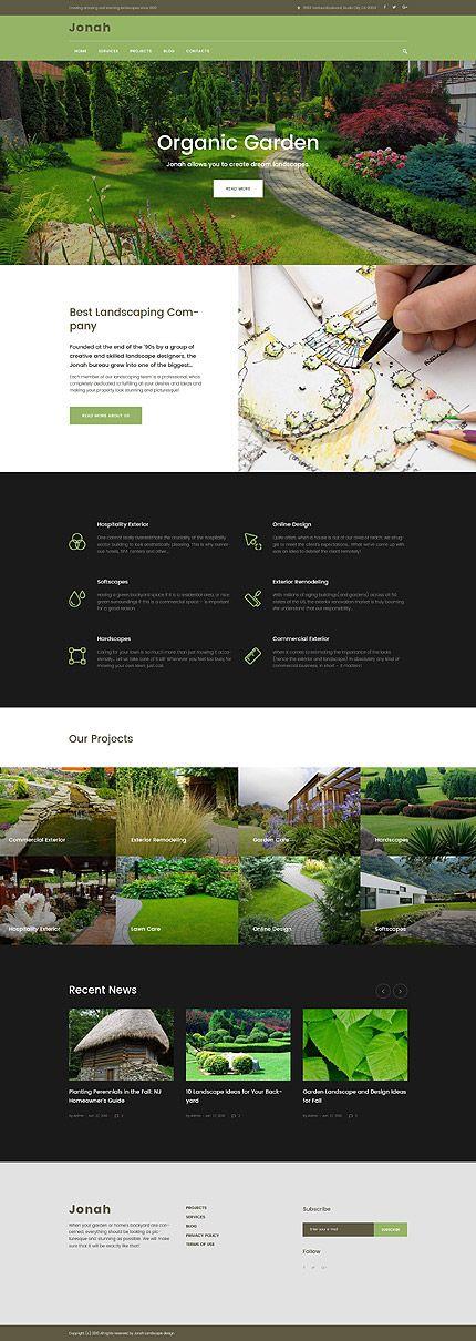 Garden Landscape Design Services Wordpress Template Themes Business Responsive Wordpressthemes Landscape Design Services Landscape Design Landscape
