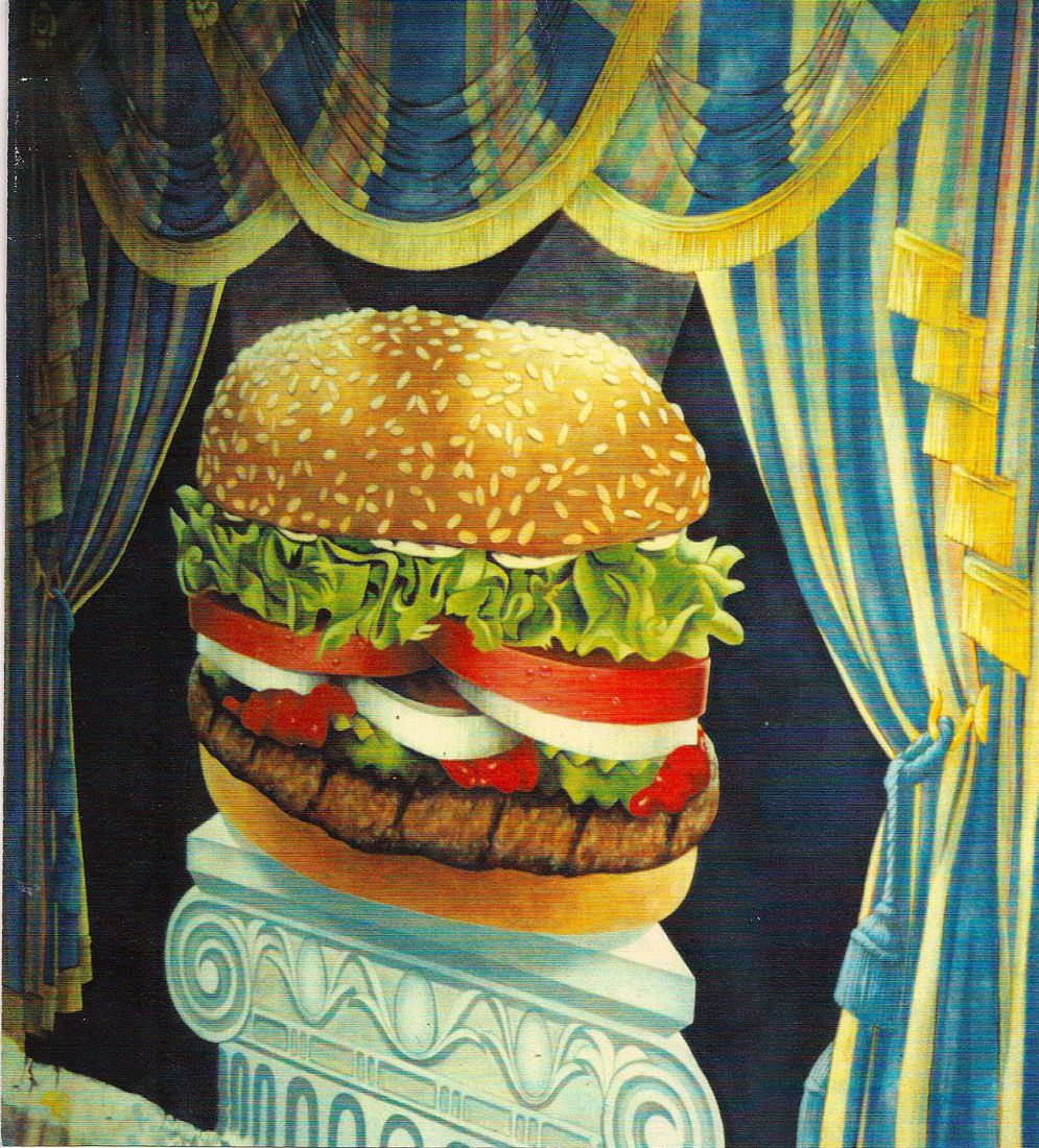 """yes I did a 15' painting of an official #burgerkingwhopper , commissioned for Burger King. It's a portrait of that years """"official"""" Whopper. It now lives in the Burger King headquarters in NYC. #Brookmeinhardtillustration #brookmeinhardtwhoppper"""