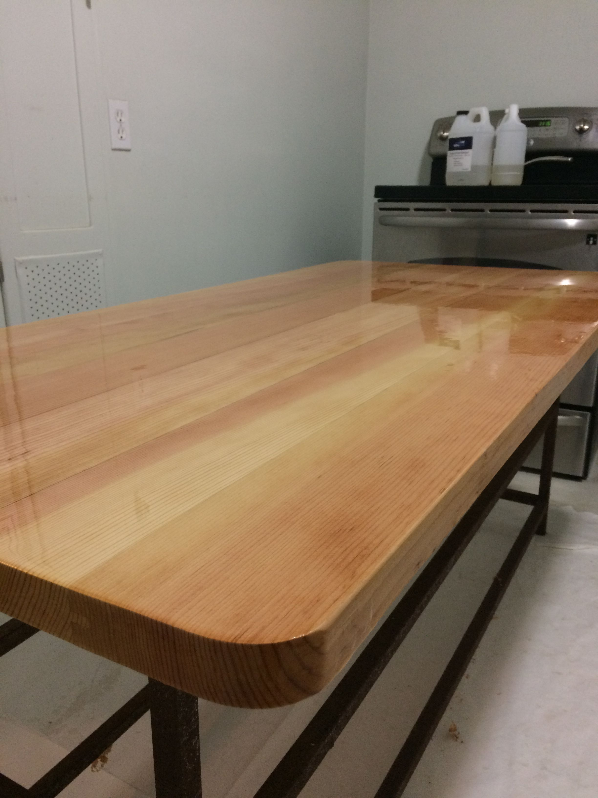 Epoxy Resin On A Douglas Fir Table Top Wood Projects