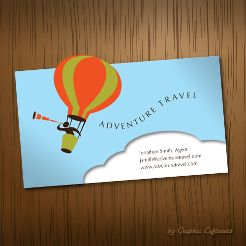 Travel agency business card single page flyers design travel agency business card reheart Gallery