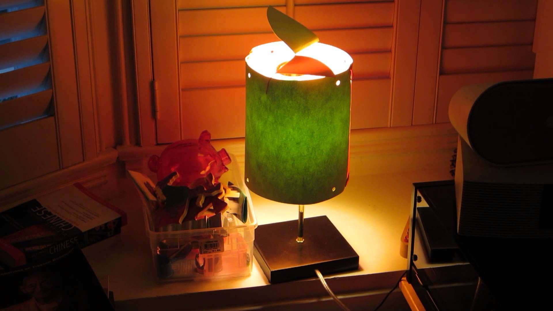 Homemade Spinning Lamp Shade Inspired By Curious George Lamp