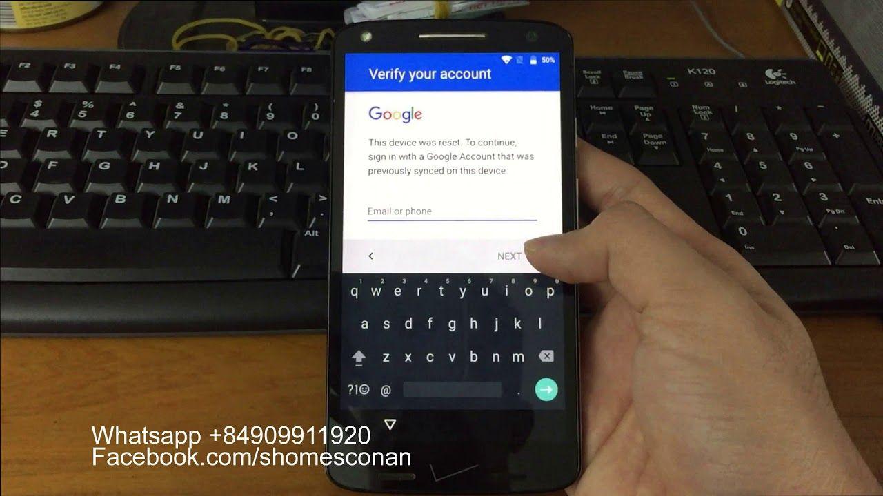 Remove google account Motorola Droid Turbo 2 Z Play E4 XT1585 XT1635