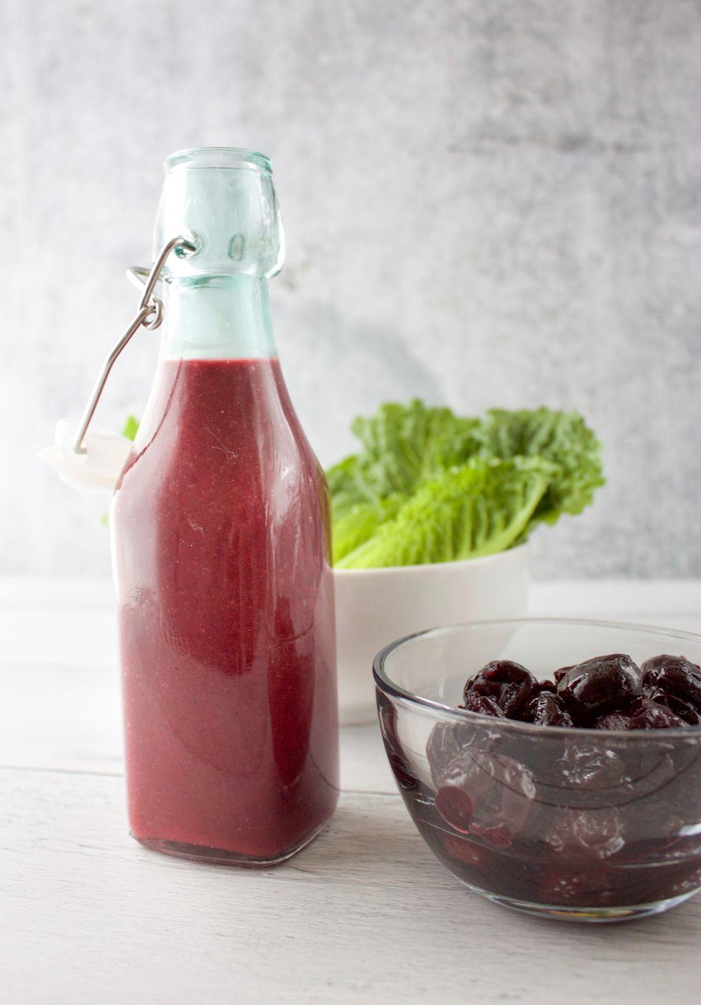 Sweet Cherry Vinaigrette No Sugar Added The Produce Moms Recipe Sweet Cherries Vinaigrette Simple Vinaigrette