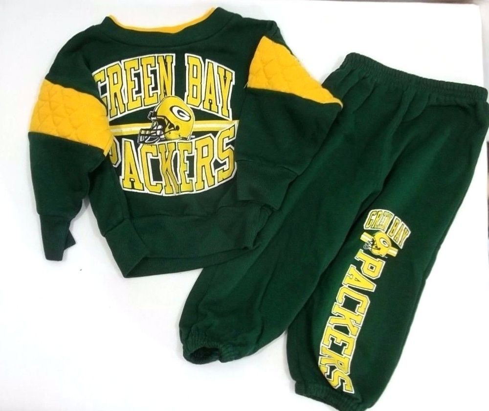 Green Bay Packers Infant Sweat Suit Shirt Pants 12 Months Teamnfl Greenbaypackers Suit Shirts Sweatsuit Shirts