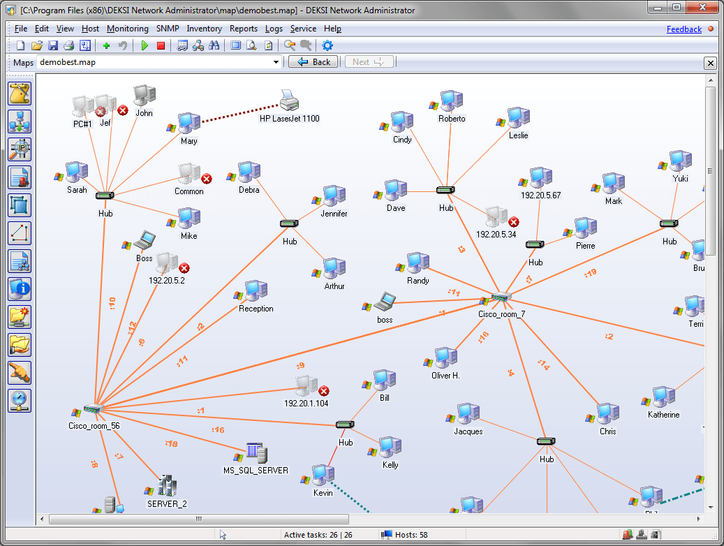 Deksi Network Administrator Network Mapping And Monitoring Software Mapping Software Workflow Diagram Map Diagram