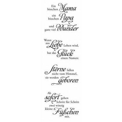Clear Stamp-Set Stempel-Gummi Karten-Kunst Weise Worte zu Weihnachten