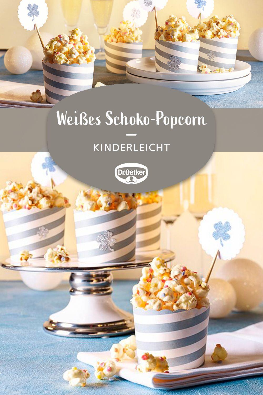 Weißes Schoko-Popcorn