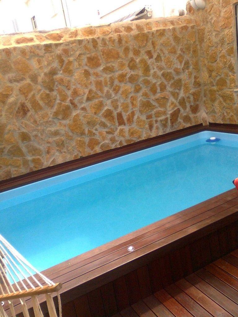 Mini piscina modelo c 40 cano en fibra de vidrio y resina - Minipiscinas para terrazas ...