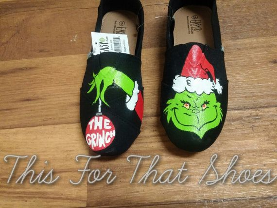 The Grinch Hand Painted Shoes by