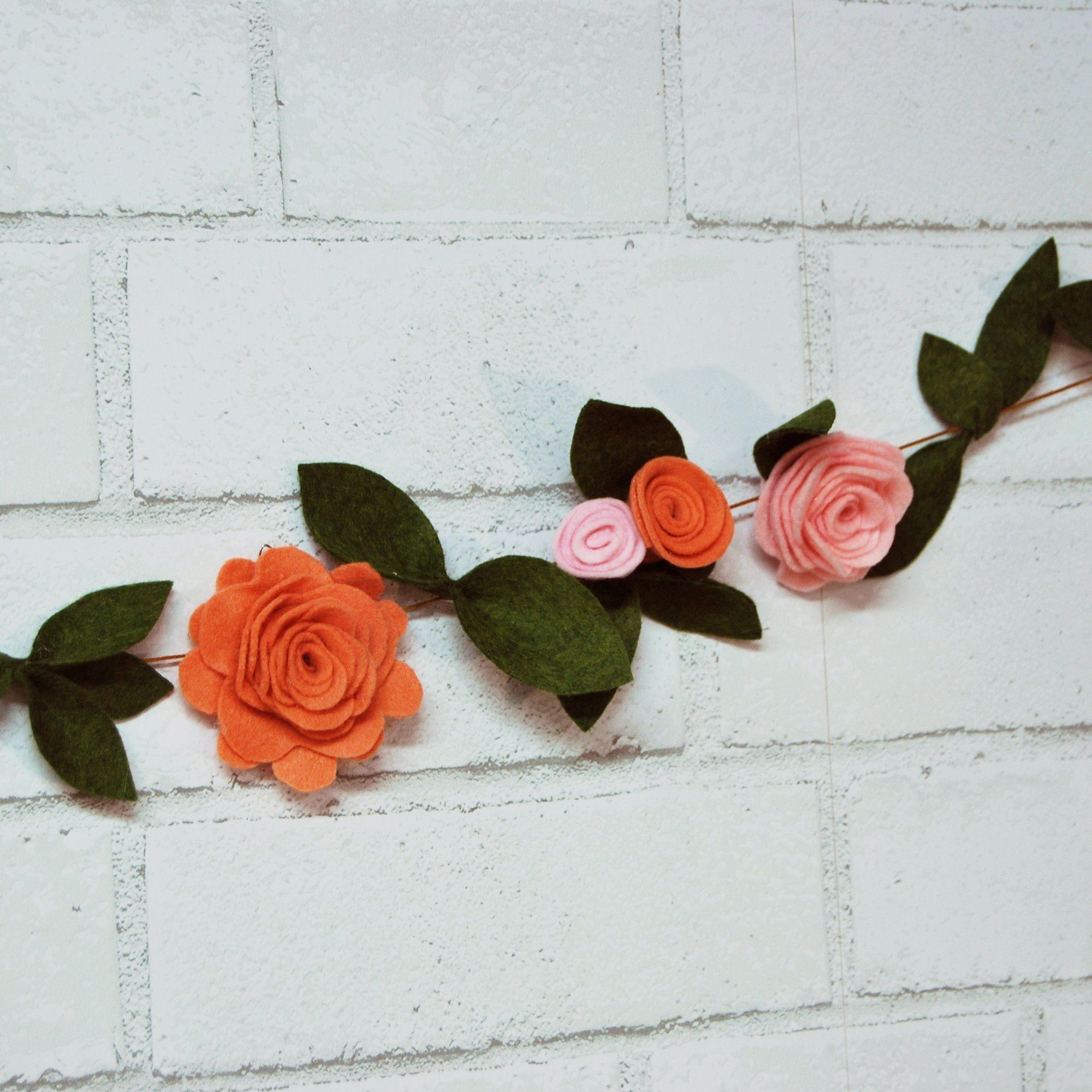 Felt Flower Garland On Pinterest Felt Flowers Flower Garlands Garland