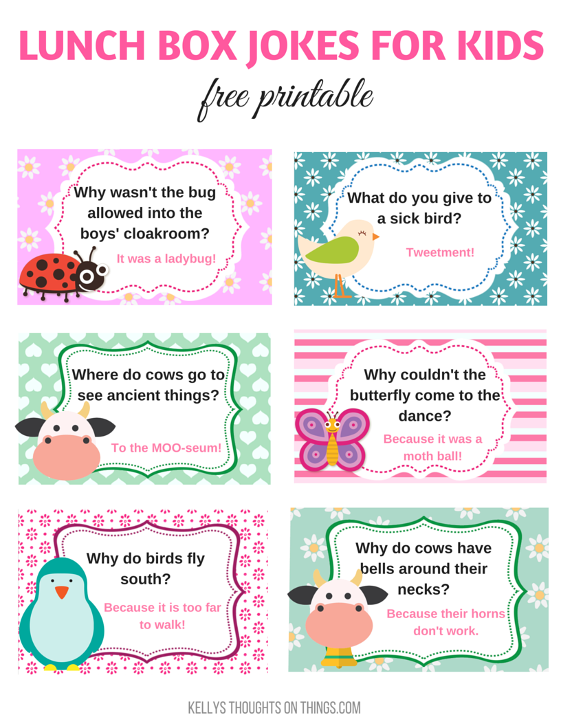 Make The Kids Laugh With Lunch Box Jokes Jokes for kids