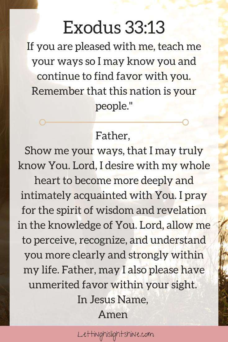 Exodus 33:13