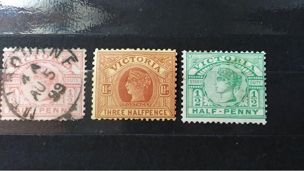 Australia duty queen victoria 1890s 2121 12d half