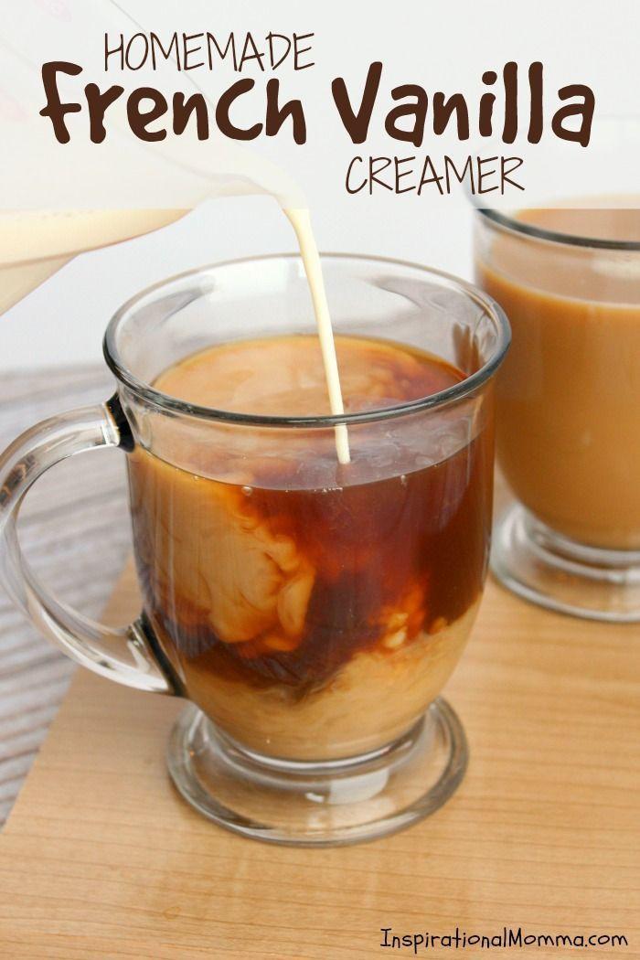 Homemade French Vanilla Creamer #frenchvanillacreamerrecipe