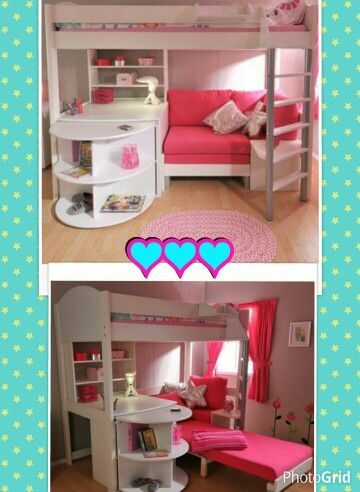 Best Bunk Bed With Desk And Pull Out Bed Girls Loft Bed Girl 400 x 300