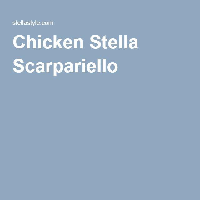 Chicken Stella Scarpariello