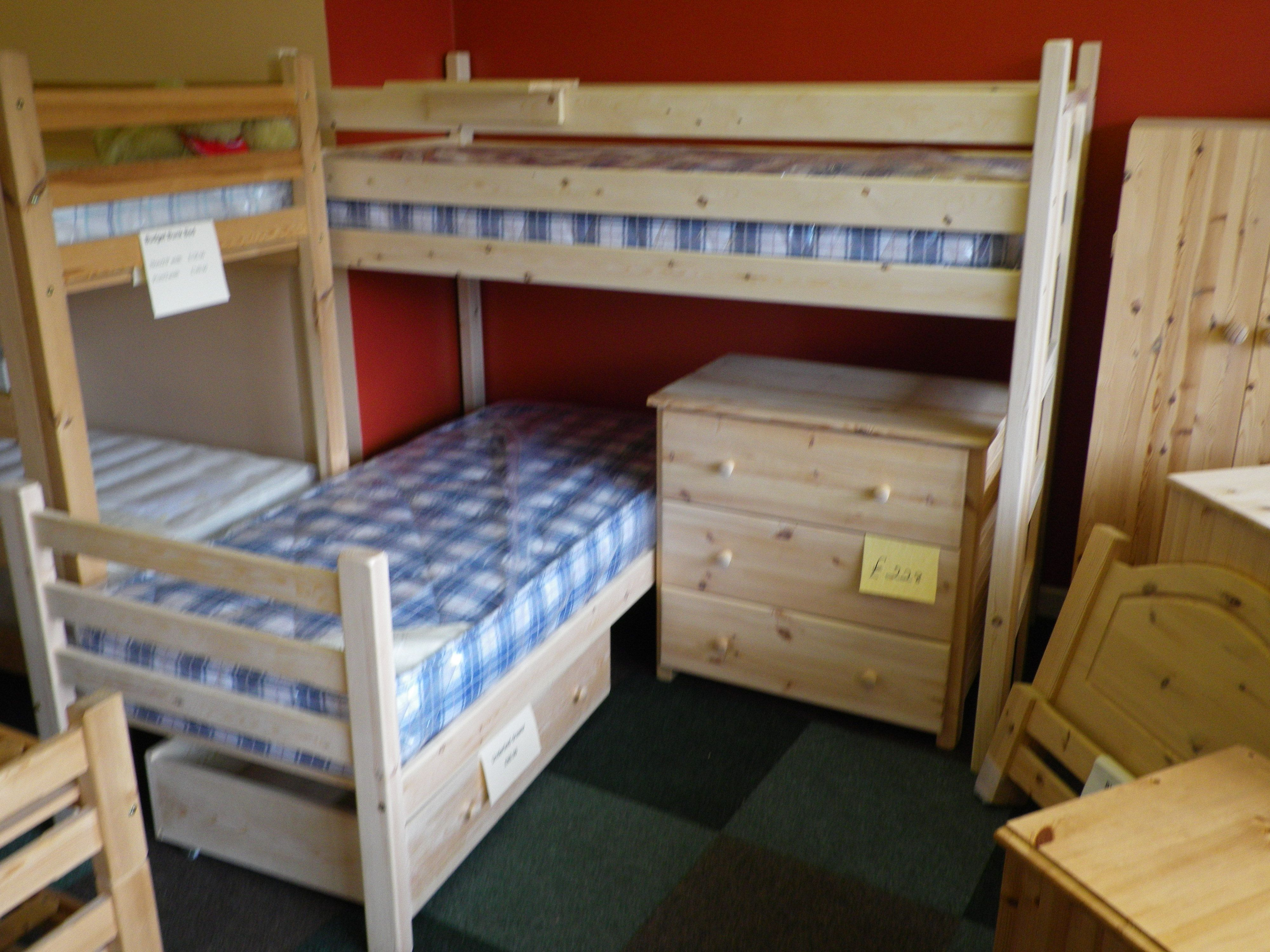 Double loft bed ideas  An L shaped bunk two separate beds so it can be used any way round