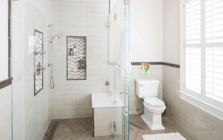 Bad Nische Fur Mehr Komfort Praktische Duschnische Im Badezimmer Installieren Small Toilet Design Herringbone Tile Bathroom Traditional Bathroom