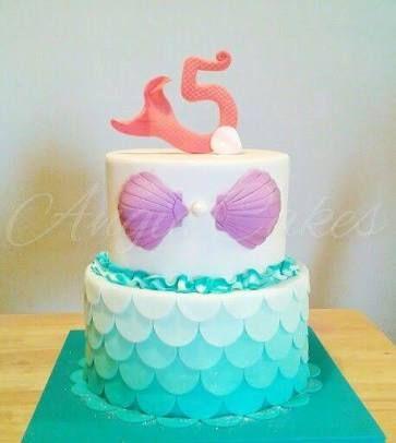 Resultado de imagen para mermaid cake Tema cumple sirena