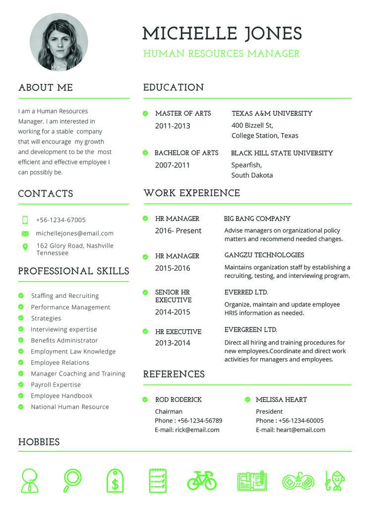 Free Professional HR Resume