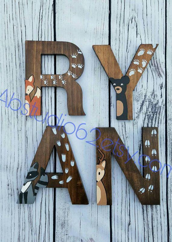 Woodland Nursery Letters! letters Nursery woodland