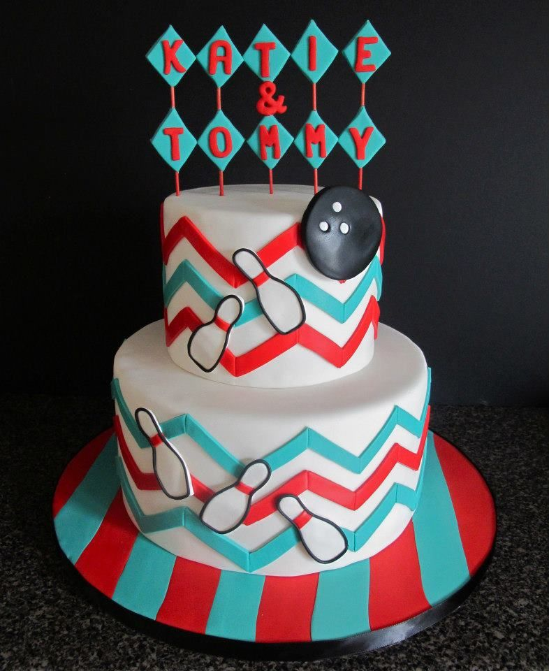 Bowling Theme Cake By Little B Cakes Bowling Party Ideas