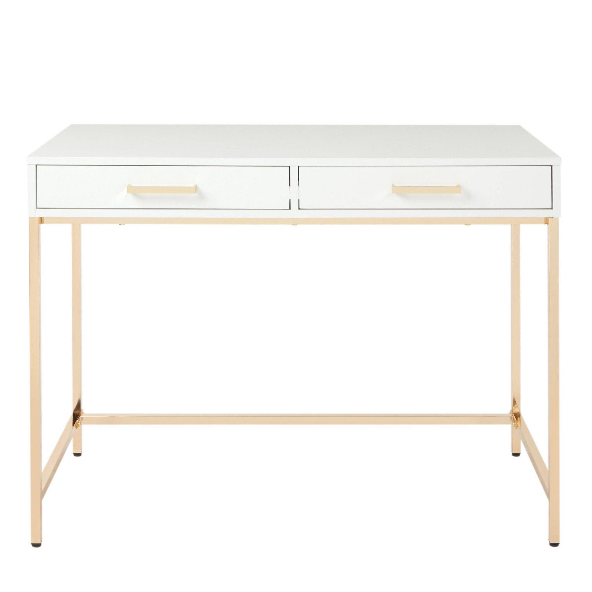 Alios Desk White/Gold - OSP Home Furnishings