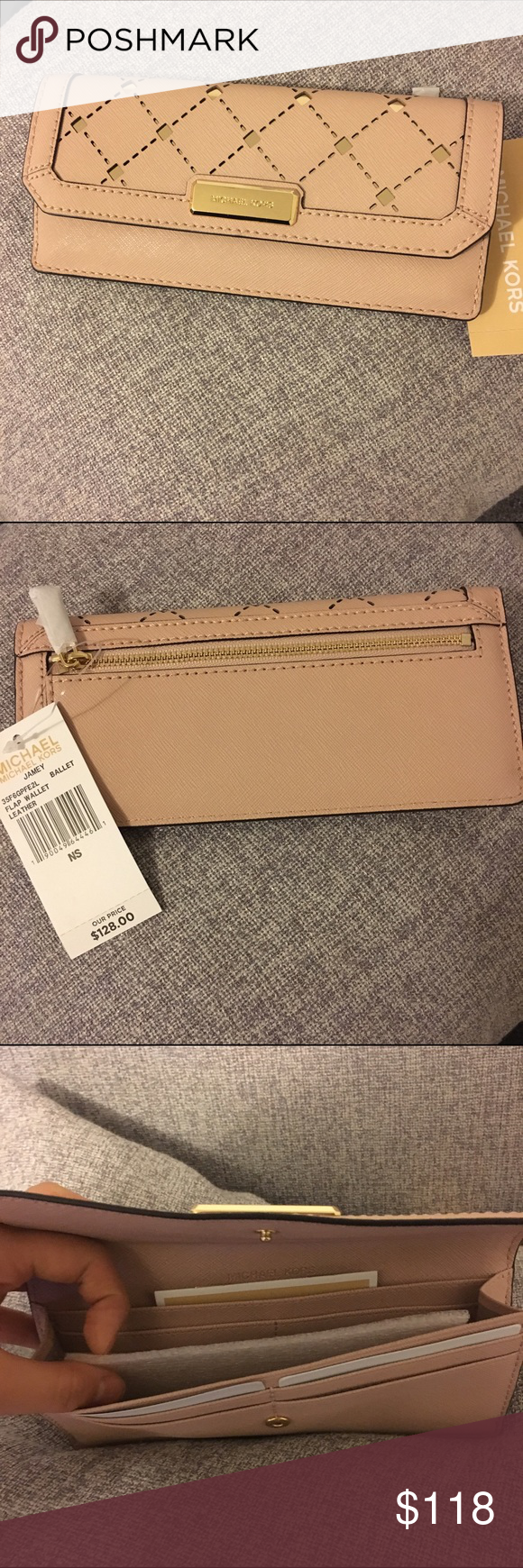 🎉🎄Michael Kors Jamey Wallet Pale Pink Brand new with tags.  Color: Ballet 💕 Retail: $128+tax No trades, less on Ⓜ️ Michael Kors Bags Wallets