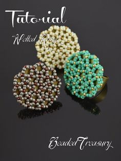 Netted ring - seed bead pattern, beadwoven ring tutorial, beading tutorial…