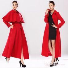 95e8d418aed71 Otoño y del invierno largo párrafo ultra lana larga delgada capa para mujer  más tamaño capa prendas de vestir exteriores(China (Mainland))