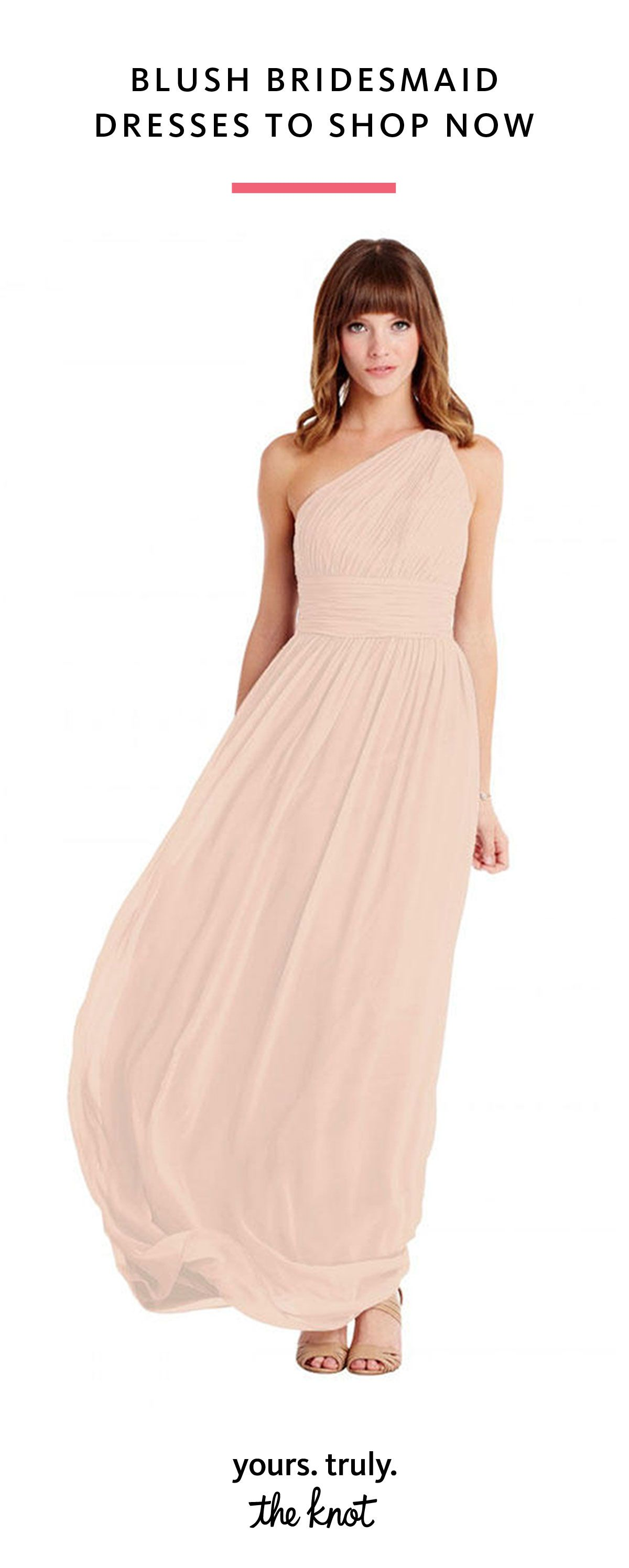 Long short blush bridesmaid dresses to shop now bridesmaid