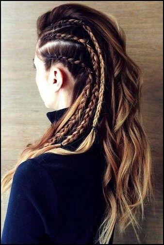 5 Vikinger Lagertha Haar Tutorial Und Frisuren Fur Frauen Trend Bob Frisuren 2019 Lagertha Hair Viking Hair Long Hair Styles
