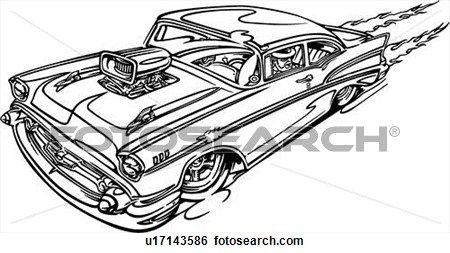 Clip Art of , automobile, car, hot rod, hotrod, u17143586 - Search ...