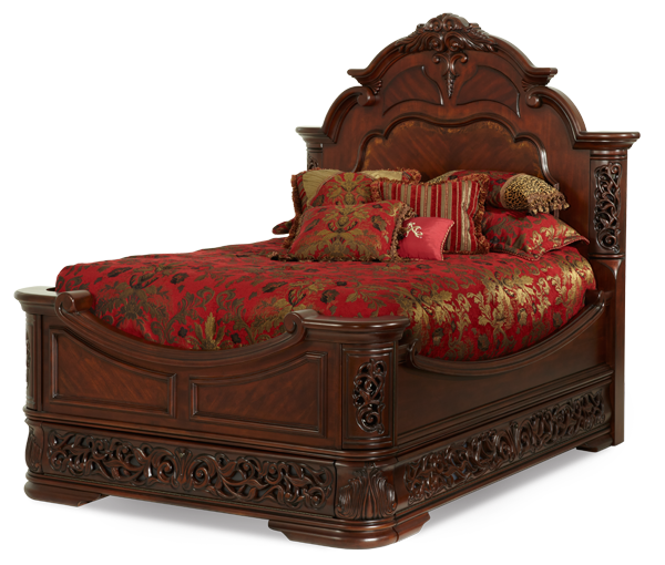 East King Mansion Bed Frame With Headboard Footboard Rails Slats Bed Frame And Headboard Aico Furniture Bedroom