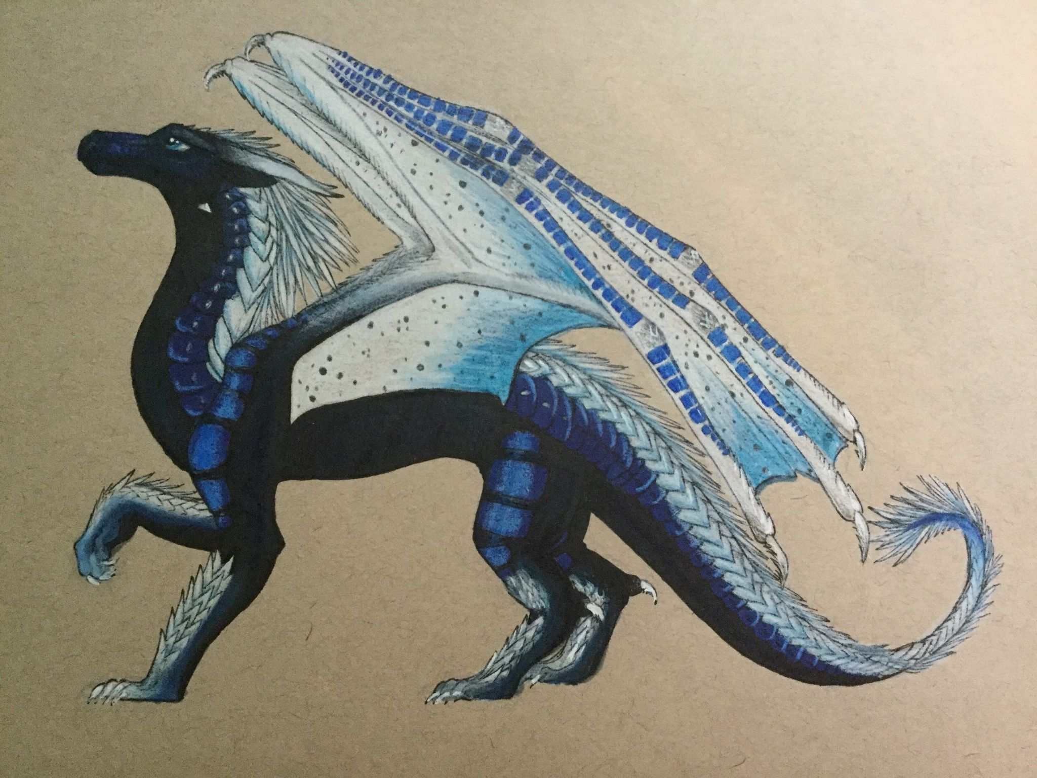 Whiteout Wings of fire fan art Art by MJ