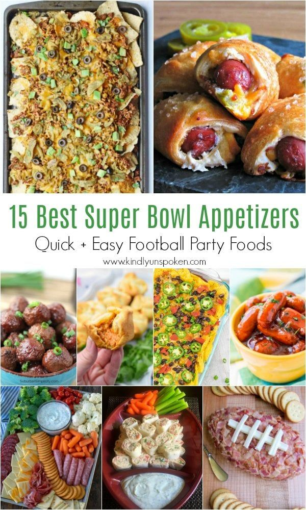 65 Best Super Bowl Recipes for Game Day - Kindly Unspoken