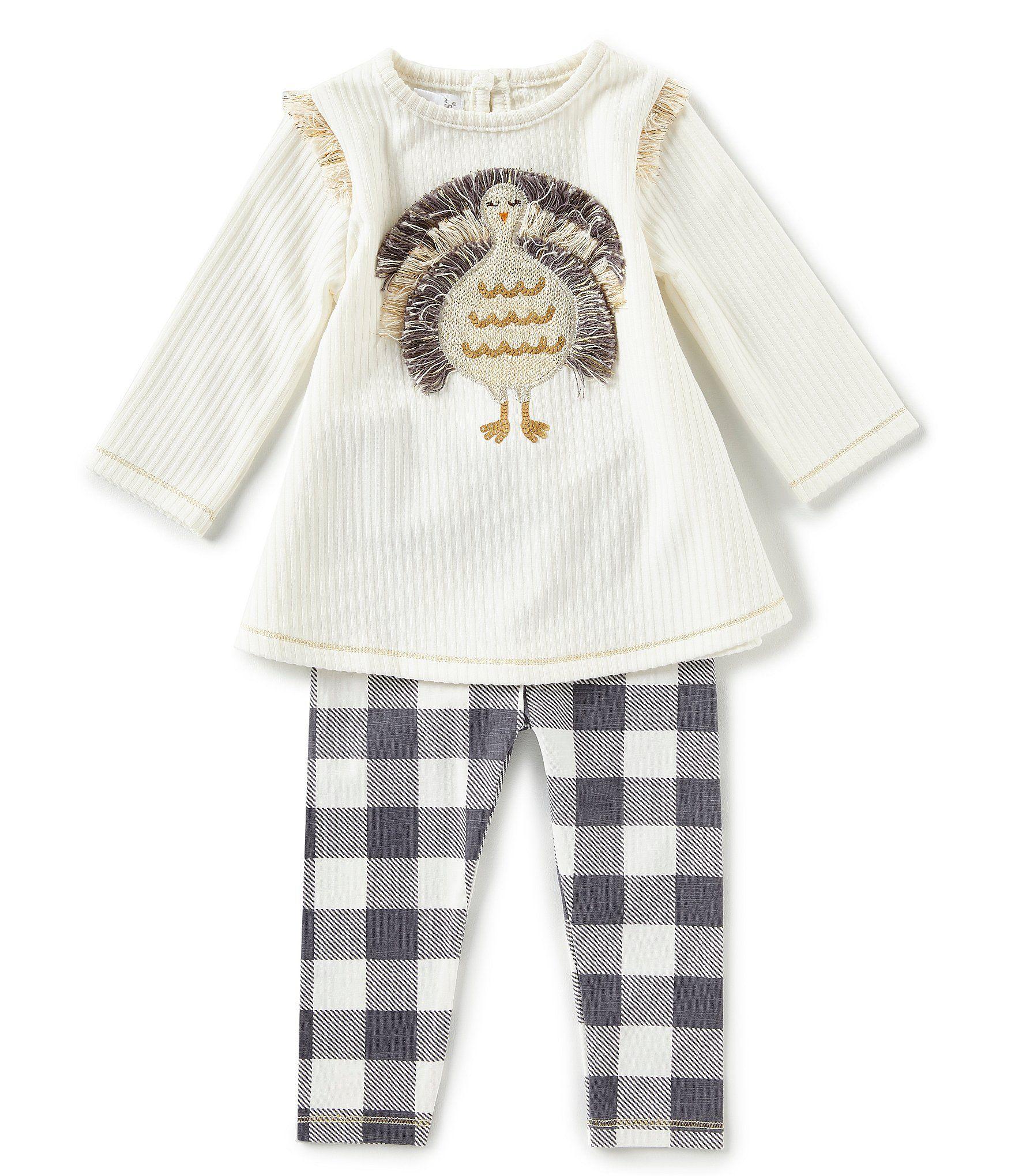 aecee5f1c Mud Pie Baby Girls 3-18 Months Thanksgiving Turkey-Appliqued Tunic ...