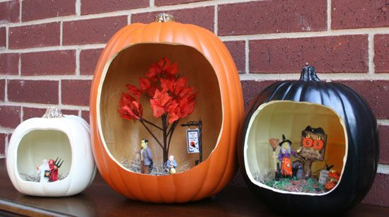 Be Different...Act Normal: Halloween Pumpkin Diorama [Michaels Great Pumpkin Challenge]