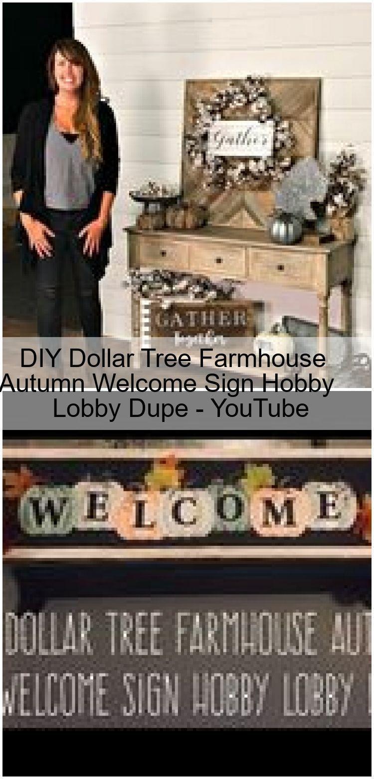 Diy Dollar Tree Farmhouse Fall Welcome Sign Hobby Lobby Dupe Youtube Autumn My Blog Diy Dollar Tree Sign In 2020 Dollar Tree Diy Hobby Lobby Dollar Tree