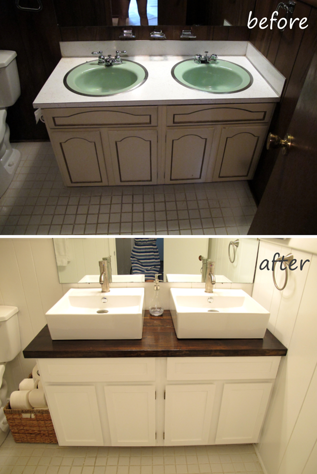 Bathroom Vanity Makeover With Images Bathroom Vanity Makeover Bathroom Countertops Diy Diy Bathroom Vanity Makeover