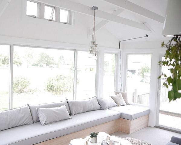 L-shaped banquette couch