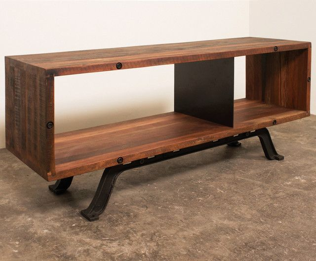 industrial tv stand Office Ideas Pinterest Industrial tv