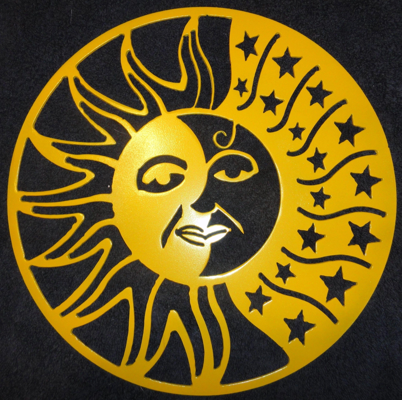 Sun Moon and Stars Metal Wall Art | Metal wall art, Metal walls and Moon