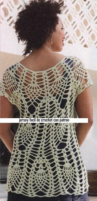 Patrones Crochet: Jersey de Red Superposicion de Otoño | crochet ...