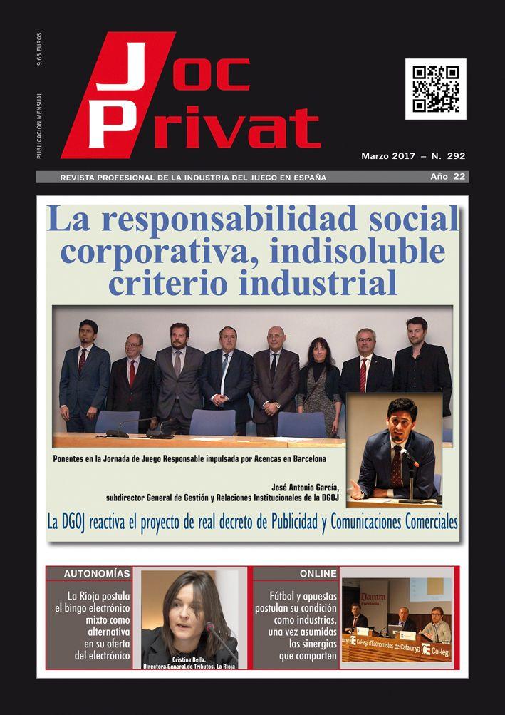 Portada 292 Marzo. Revista Joc Privat