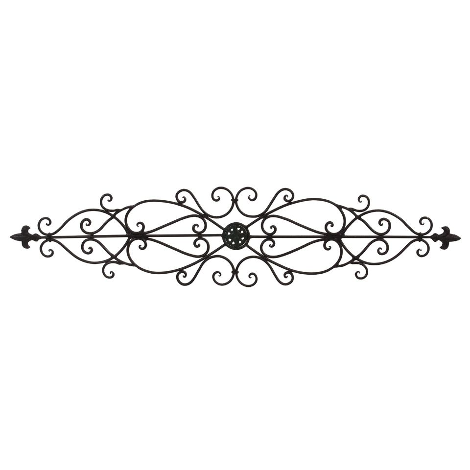 This 35 Fleur De Lis Wrought Iron Wall Swag Is Perfect Above A