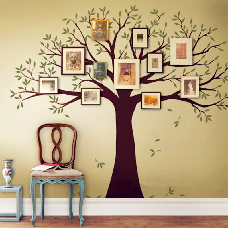 Family Tree Bird Wall Decals Photo Frames Wall Stickers Home Decor ...