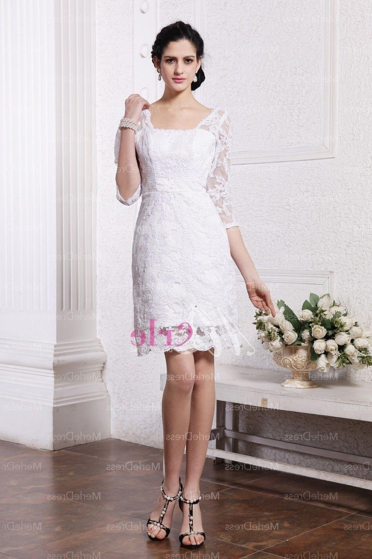 Short Lace Wedding Dress - http://bigbackground.xyz/short-lace-wedding-dress/1122/
